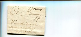 ORANGE Vaucluse Marque Manuscrite Orange + Taxe 4 Sols Sur Pli 1783. ..G - Marcophilie (Lettres)