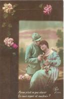 04 - CPA - Grande Guerre - Soldat Français Et Sa Femme - Editeur Pax 2032 - 1917 - (couleur)  - - Patriotiques