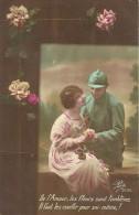 06 - CPA - Grande Guerre - Soldat Français Et Sa Femme - Editeur Pax 2032 - 1917 - (couleur)  - - Patriotiques