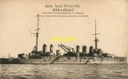 Guerre 14-18, Guerre Navale, Le Mirabeau, écrite Par Un Poilu Fusillier Marin, Torfou 1917 - Guerre 1914-18