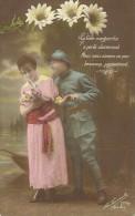 18 - CPA - Grande Guerre -Soldat Français Et Sa Femme - Editeur La Favorite - Visé Paris -N°2393/2 -1917 - (couleur)  - - Patriotiques