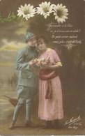 20 - CPA - Grande Guerre -Soldat Français Et Sa Femme - Editeur La Favorite - Visé Paris -N°2393/5 -1917 - (couleur)  - - Patriotiques