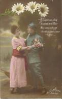 21 - CPA - Grande Guerre -Soldat Français Et Sa Femme - Editeur La Favorite - Visé Paris -N°2393/3 -1917 - (couleur)  - - Patriotiques
