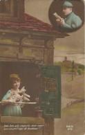 23 - CPA - Grande Guerre -Soldat Français Et Sa Femme - Editeur REX - N°819 -1918 - (couleur)  - - Patriotiques