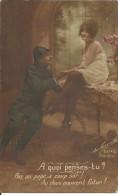 24 - CPA - Grande Guerre -Soldat Français Et Sa Femme - La Favorite Visé Paris- N°2514/2 - ARTIGE & Cie - (couleur)  - - Patriotiques