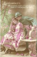 37 - CPA - CONFIDENCES - Editeur GLORIA N°435 - 1918 - (couleur)  - - Patriotiques