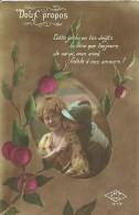 """38 - CPA - """"DOUX PROPOS"""" - Editeur JMT-Paris N°217/2 - 1918 - (couleur)  - - Patriotiques"""