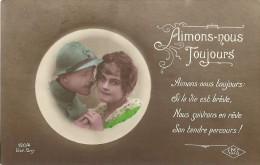 """39 - CPA - """"Aimons Nous Toujours"""" - Editeur JMT-Paris N°190/4 - 1918 - (couleur)  - - Patriotiques"""
