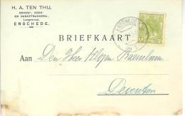 1918 Langebalk Enschede 1  Op Firmakaart Naar Deventer - 1891-1948 (Wilhelmine)