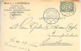 1909 Langebalk Veghel 1 En Eindhoven 6 Op Firmakaart - Periode 1891-1948 (Wilhelmina)