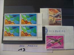 SAN MARINO - Poste Aerienne  N° 137  Bloc De 4 - 138 -139 - Voir Photo  ( 13 ) - Poste Aérienne