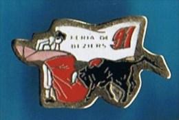 PIN´S // ** FÉRIA ** BÉZIERS ** 91 ** - Bullfight - Corrida