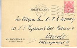 1920 Flierstempel Rotterdam Op Firmakaart Naar Utrecht - Periode 1891-1948 (Wilhelmina)