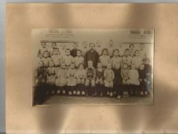 ECOLE SCHNEIDER (71)  PHOTO DE CLASSE DE GARCONS 1927 (PHOTOGRAPHE B DENIZOT CHAGNY) - Lieux