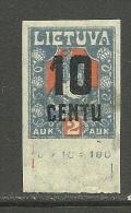 LITAUEN Lithuania 1922 Michel 168 U * - Lithuania