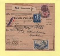 Colis Postaux Alsace Lorraine - Bulletin D Expedition - Colmar Gare - Haut Rhin - 24-8-1937 - 2f Moulin Daudet - Marcophilie (Lettres)