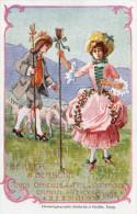 Cpa Suisse Fête Des Vignerons Vevey En 1905, Berger Et Bergère  (47.24) - Eventi