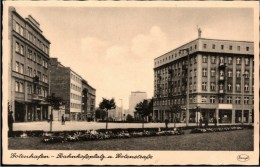 ! Ansichtskarte Aus Gdingen, Gdynia, Gotenhafen, Westpreußen, Polen, Poland, Pologne, Bahnhofsplatz, Gotenstraße - Westpreussen