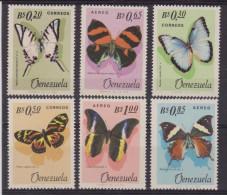 VENEZUELA FARFALLE MARIPOSA PUPPILON BUTTERFLIES MNH 731/33+A873-5 - Farfalle