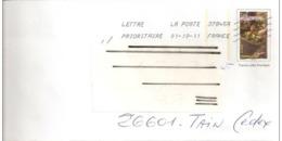 """Lettre  Prêt  à  Poster  Facsimilé  Du  N° 3888  """" Les Vendanges """"  Grand  Format   Du   01 - 10 - 2011 - Prêts-à-poster: Other (1995-...)"""