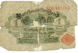1 Mark 1914 Cachet Rouge - [ 2] 1871-1918 : Impero Tedesco