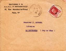 1942 - Lettre Commerciale - Edition Fernand Nathan Au 18 Rue Monsieur-le-Prince à Paris 6ème - FRANCO DE PORT - Francia