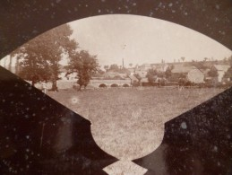 Photo Montage 1899 Aveyron  Villefranche De Panat Photo Sauvagnac Servian Rare!!!!! Sur Carton 12.5 X 9.5 - Plaatsen