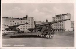 ! Ansichtskarte Aus Gdingen, Gdynia, Gotenhafen, Westpreußen, Polen, Poland, Pologne, 1942, Geschütze, Scharnhorstplatz - Westpreussen