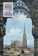 VIENNA-ST STEPHEN CATHEDRAL, PLANE, CM, MAXICARD, CARTES MAXIMUM,1966, HUNGARY - Tarjetas – Máximo