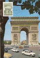 PARIS-ARCH OF TRIUMPH, STAR SQUARE, PLANE, CM, MAXICARD, CARTES MAXIMUM, 1966, HUNGARY - Maximumkarten (MC)