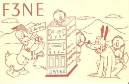 QSL POSTAL DE RADIO AFICIONADO DE FRANCIA DEL AÑO 1953 (FRANCE RADIO STATION) PATO DONALD - Radio Amateur