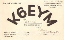 QSL POSTAL DE RADIO AFICIONADO DE USA DEL AÑO 1954 (USA RADIO STATION) - Radio Amateur