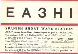 QSL POSTAL DE RADIO AFICIONADO DE BARCELONA DEL AÑO 1951 (SPANISH RADIO STATION) - Radio Amateur
