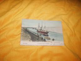 CARTE POSTALE ANCIENNE CIRCULEE DATE ?. / EGYPTE.- PORT SAID.- LA GRANDE COURBE D'EL GHIRS. EN COULEUR. - Port Said