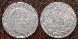 (J) AUSTRIA: Silver 10 Kreuzer 1869 UNC (3543) SALE!!!! - Autriche