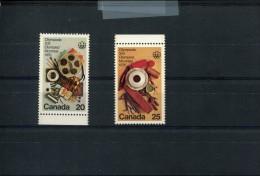 CANADA POSTFRIS MINT NEVER HINGED POSTFRISCH EINWANDFREI YVERT 594 595 - 1952-.... Règne D'Elizabeth II