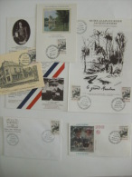 FRANCE Lot De 5 Documents 1er Jour CENTENAIRE ALAIN FOURNIER LE GRAND MEAULNES  Année 1986 - FDC