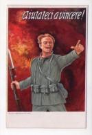 """Cartolina """"Aiutateci A Vincere!"""" Prestito Nazionale - Banca Commerciale Italiana. Prima Guerra Mondiale. Ill.BARCHI - Guerra 1914-18"""