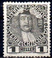 AUSTRIA 1908 60th Anniv of Emperor�s Accession - 1h  Charles VI  MH