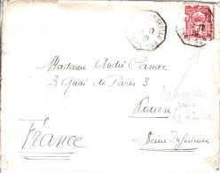 ⭐ Indochine - Yokohama à Marseille N° 5 En 1929 - Lettre A été Affranchie Avec Semeuse 50c Orange, Non Valable ⭐ - Briefe U. Dokumente