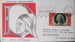 MONACO - FDC - 1966 - DANTE - Monte-Carlo  Le 01.02.1966 - Bon Etat - - FDC