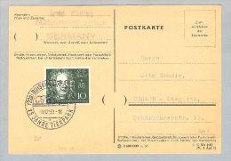 DE BRD 1959-12-09 Duisburg PK Mi#315 EF - Lettres & Documents