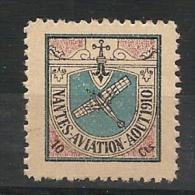 AEROPHILATELIE - Rare 1910 NANTES AVIATION MEETING - Sanabria # 301 - * MINT LH - Airmail