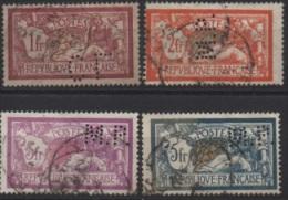 4 TIMBRES PERFORÉS, MERSON - France