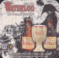 BIERVILTJE / SOUS BOCK / BEER MAT / WATERLOO THE BEER OF BRAVERY! - Sous-bocks