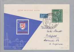 DE BRD FDC ET Mi#217 Auf Ill.Karte S-O Düsseldorf - Lettres & Documents