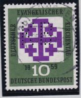 """DE BRD 1959 Mi#318 Gest. Perfin """"KB"""" Selten - [7] République Fédérale"""