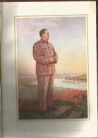 China 1955 Propaganda Calendar Mao Zedong Diary Calendrier Calendario Silk Cover - Calendars