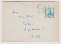DE BRD 1956-03-10 Brief Mit Mi.# 255 EF Nach Zürich - [7] République Fédérale