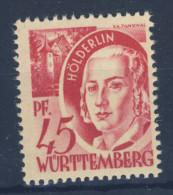 W�rttemberg  Nr. 9 v w I ** postfrisch